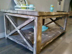 New Rustic Coffee Table with 2 End Tables set $550
