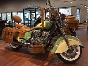 2016 Indian Motorcycle Chief Vintage Willow Green and Ivory Crea