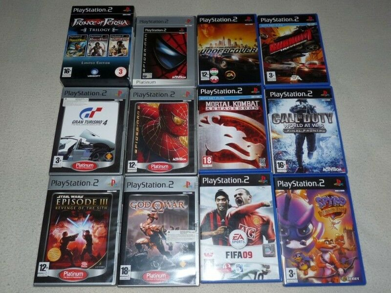 Gry do Playstation2, mało używane m.in Prince of Persia, Spider-man, Need For Speed, Grand Turismo 4