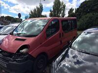 Vauxhall vivaro diesel 9 seat minibus for spared