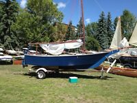 wooden sailboat $2,500