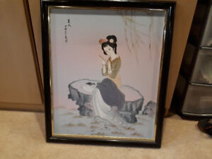 oriental oil paintings. wall plaques and many pics