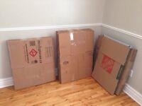 40 Moving cardboard boxes 0.50$ ea - boite carton déménagement