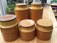 Hornsea Saffron retro storage jars
