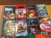 Large bundle kids dvds Disney x8 used once each