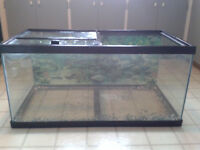 50 gal. Fish tank with bag of stones