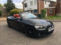 BMW 320i 2.0 M Sport 2009 Convertible, 65,000 Miles, Red Leather Interior