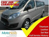 2015 15 FORD TOURNEO CUSTOM 300 L2 TITANIUM 125PS 9-SEATS DIESEL