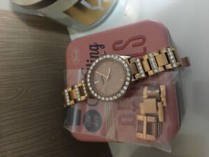 Fossil watch (rose gold and gold)