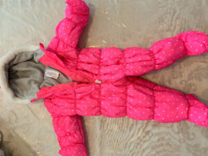 Girls 12 month snowsuit