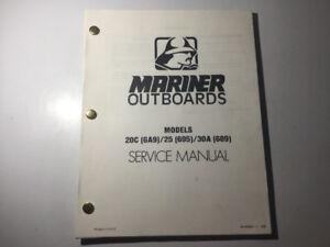 Mariner Outboard Shop Manual 20C (6A9) / 25 (695) / 30A (689)