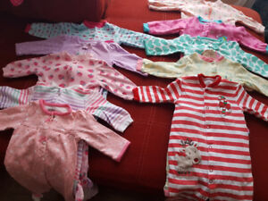 3-6 months baby girl sleepers