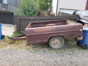 1970 Ford Custom 8 foot truck box trailer