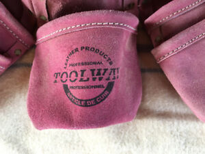 Pink leather tool belt