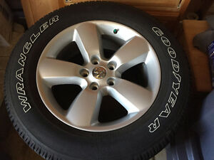 20in Rims & Tires from a 2016 Ram 1500