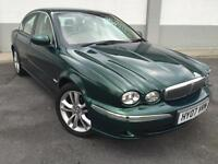 2007 07 Jaguar X-TYPE 2.2D SE 4 DOOR FINISHED IN BRITISH RACING GREEN WITH IVORY