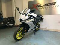 Yamaha YZF R125 Manual Sports Motorcycle, 2019, ABS, White, V Good Condition
