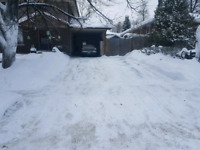 Snow shoveling & blowing