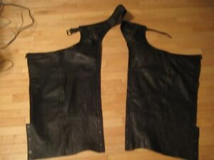 Dark Brown Leather Chaps..Size Small