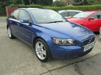 2007 Volvo S40 2.0d 136 4dr Brilliant Blue, Full Leather