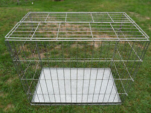 LARGE Dog Crate / Cage with Tray