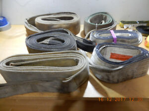 20 VARIOUS 10-20 FOOT LONG 6 INCH LOAD SLINGS - CRANE TRUCK