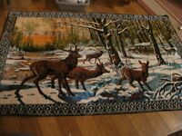 wildlife rug or wall hanging