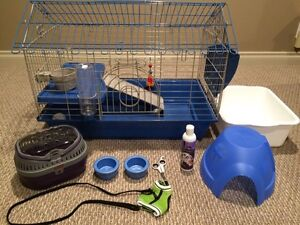 BRAND NEW SMALL PET CAGE AND ACCESSORIES