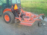 Kubota tractor with Blower