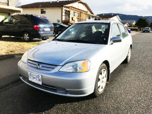 2002 Honda Civic Sedan 151k kilometer Automatic