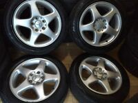 "Mercedes 16"" C class alloy wheels very tidy suit Vag cars"