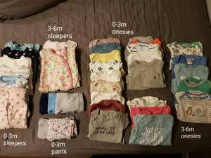 Girls/gender neutral 0-6m clothes