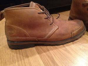 Timberland beige booties boots 11