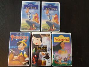 5 Disney Movies on VHS