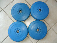 4 poids WEIDER haltères weight lifting BARbell set 10 lb