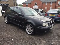 "2004 VW Golf Match, Black 3 Door, 130k 12Mot, X1 Key, Alarm System 18"" Alloys x2 New Tyres, Recaro S"