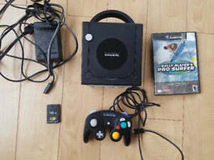 Gamecube with game, controller, memory card, hookups