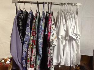 Assortment of tops and jackets for RN's and support staff