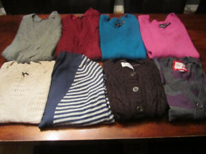 Woman's clothing lot- 8 fall/winter sweaters