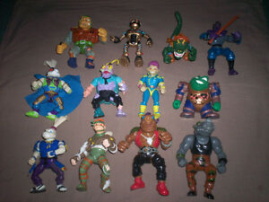 BIG LOT OF VINTAGE TMNT & BUCKY O'HARE TOYS PLAYMATES