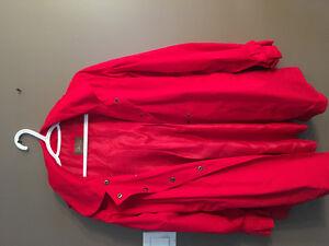 Red girls spring coat