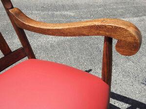 "antique ""tiger"" oak rocker,  new red leather seat Oakville / Halton Region Toronto (GTA) image 6"