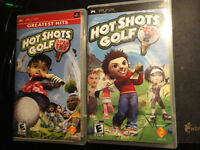 Hot Shots Golf Open Tee And Open Tee 2 PSP Games