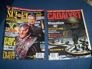 SCI FI ENTERTAINMENT-CADALYST-1996-1997-RARE BACK ISSUES