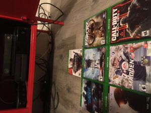 Xbox one, Kinect, 1 controller, and 7 games