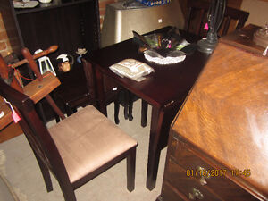 Drop Leaf table and 2 chairs  (NEW)