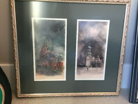 Framed Art - Russian Water Color