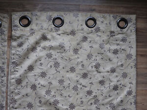 2 curtain panels - selling BOTH for $15