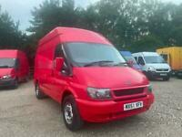 Transit MWB High Roof Fire Service Red Panel Van From 2001 With 117,000 miles