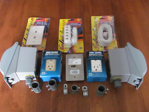 GFCI SAFETY OUTLETS & PVC BOXES